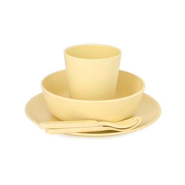 Bobo&Boo 5 Piece Children's Bamboo Dinnerware