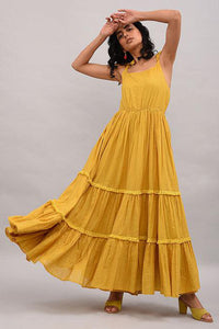 Yellow Cotton Maxi Dress