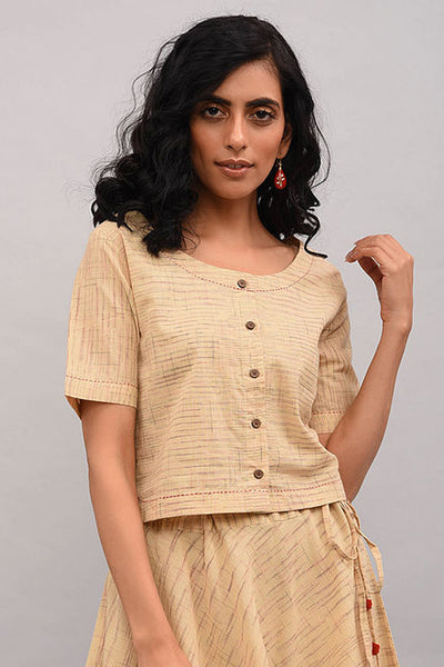 Beige Cotton Top