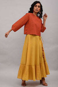 Yellow Cotton Skirt
