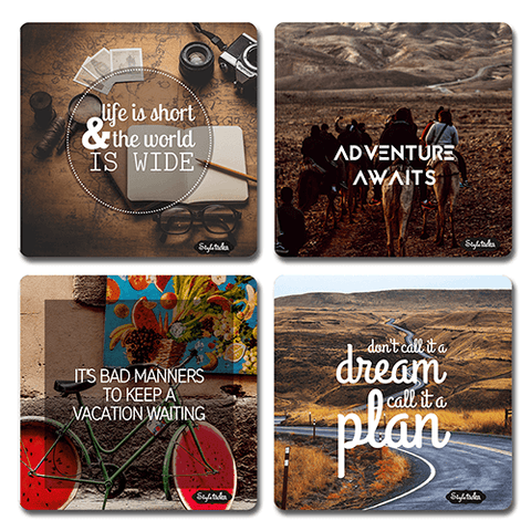 Travel Acrylic Coasters