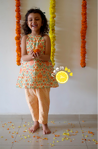 Zesty Festy Dress & Pants Set