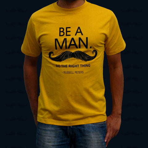 BE A MAN YELLOW