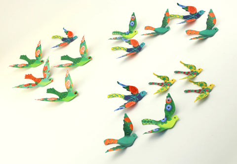 Set of 24 Decorative Paper Birds - Paper Craft for Home Decoration