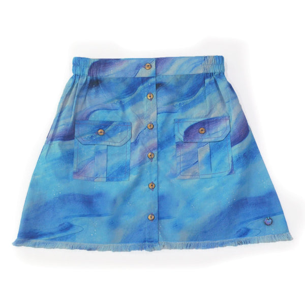 Cloudy Button-Up Skirt