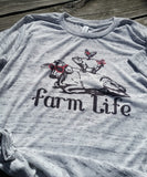 Farm Life Tee, Frarml Shirt, Farm Life, Heifer Shirt, Heifer TShirt, Cow Shirt, Farm Animal Shirt, Chicken Shirt, Pig Shirt
