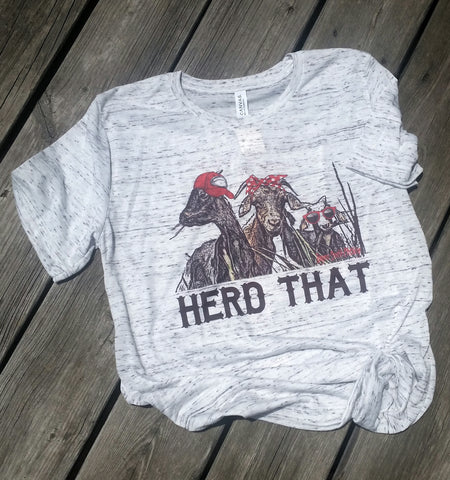 Herd That Tee, Goat Shirt, Farm Shirt