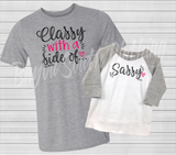 Classy with a Side of Sassy, Mommy and Me Shirts, Classy but Sassy, Classy with a Side of Sassy Shirt, Sassy Girl Shirt, Mom and Daughter