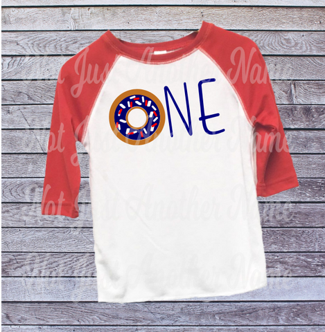 Donut Birthday Shirt First 1st Not Just Another Name