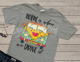 Home is where we drive it, Hippie Bus Shirt, Camping Shirt, Flower Power