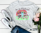 I'm So Flocked, Glamping Shirt, Camping Shirt, Glamping, Flamingo Shirt