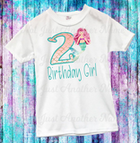 Mermaid Birthday Shirt, Mermaid Shirt, Mermaid Birthday, Mermaid Party, Birthday Girl, Birthday Girl Shirt