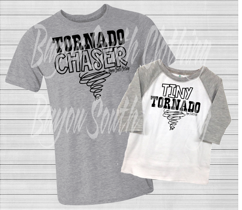 Tornado Chaser, Tiny Tornado, Daddy and Me Shirts, Mommy and Me Shirts, Chasing My Tiny Tornado