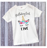 Family Unicorn Birthday Shirts, Mom of the Birthday Girl, Dad of the Birthday Girl, Unicorn Birthday