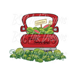 Watermelon Truck Shirt, Sweet Summertime, Red Truck Shirt, Summer Truck, Watermelon Patch