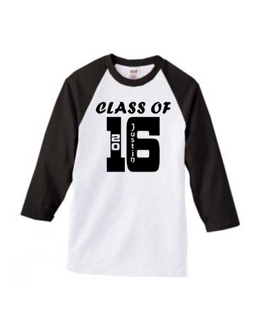 Class of 2017 Personalized Shirt- Graduation Shirt - Senior Shirt - Not Just Another Name