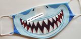 Dinosaur Face Cover/Mask, Washable Face Cover, Shark Face Mask/Cover, Boys Cover/Mask, Kids Face Mask/Cover, Funny Face Mask