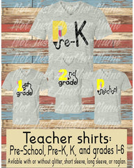 Teacher Grade Level Shirt
