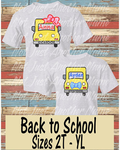 First Day Of School Shirt - Personalized Bus