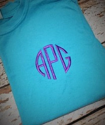 Monogrammed Short or Long Sleeve T-Shirt