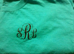 Monogrammed Short or Long Sleeve T-Shirt, Short Sleeve Monogrammed Shirt, Long Sleeve Monogrammed Shirt, Women's Monogrammed Shirt