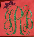 Women's Glitter Monogram T-Shirt - Not Just Another Name