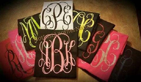 Short Sleeve GLITTER Monogram T-Shirt