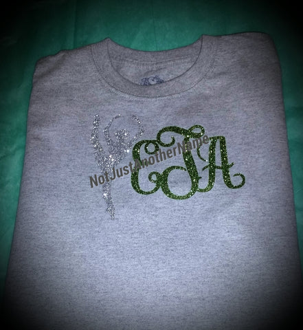 Glitter Monogrammed Dance/Cheer/Gymnastic/Majorette - Not Just Another Name
