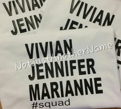 Custom Hashtag Shirt, Family Hashtag Shirt, Custom Squad Goal Shirt, Custom Squad Shirt