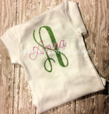 Monogrammed Glitter Initial Shirt/Bodysuit - Not Just Another Name