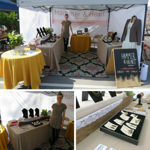 Hammer and Heart Events Raleigh North Carolina Handmade Jewelry Women's Fashion Made in the USA