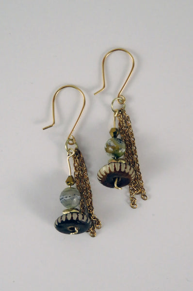 Hammer and Heart Boutique Handmade Women's Jewelry Handcrafted accessories Made in the USA Beaded Boho Earrings