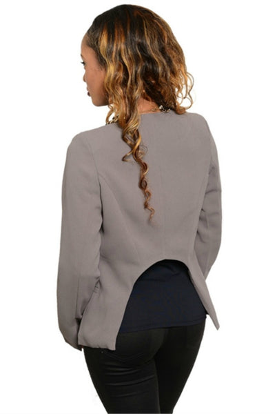 women's fashion blazer taupe blazer clothes made in the usa hammer and heart boutique