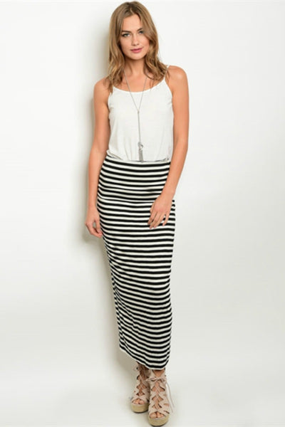 Striped Knit Skirt Bailey Boutique