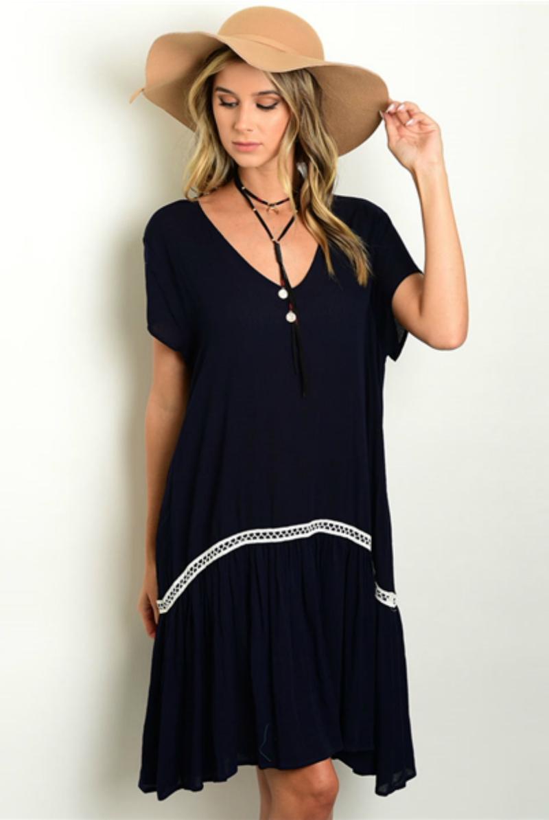 hammer and heart boutique women's fashion made in the usa fall lace dress navy dress