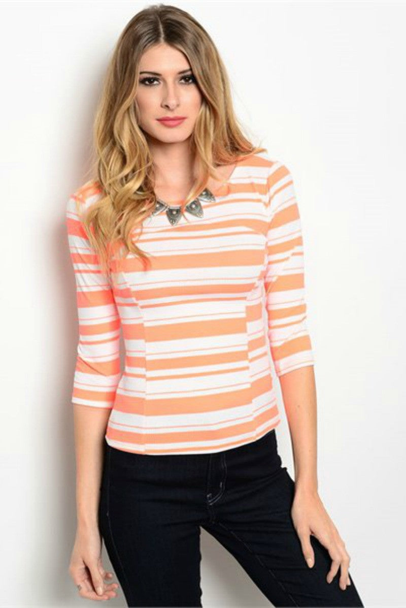 hammer and heart boutique women's striped top fashion made in the usa