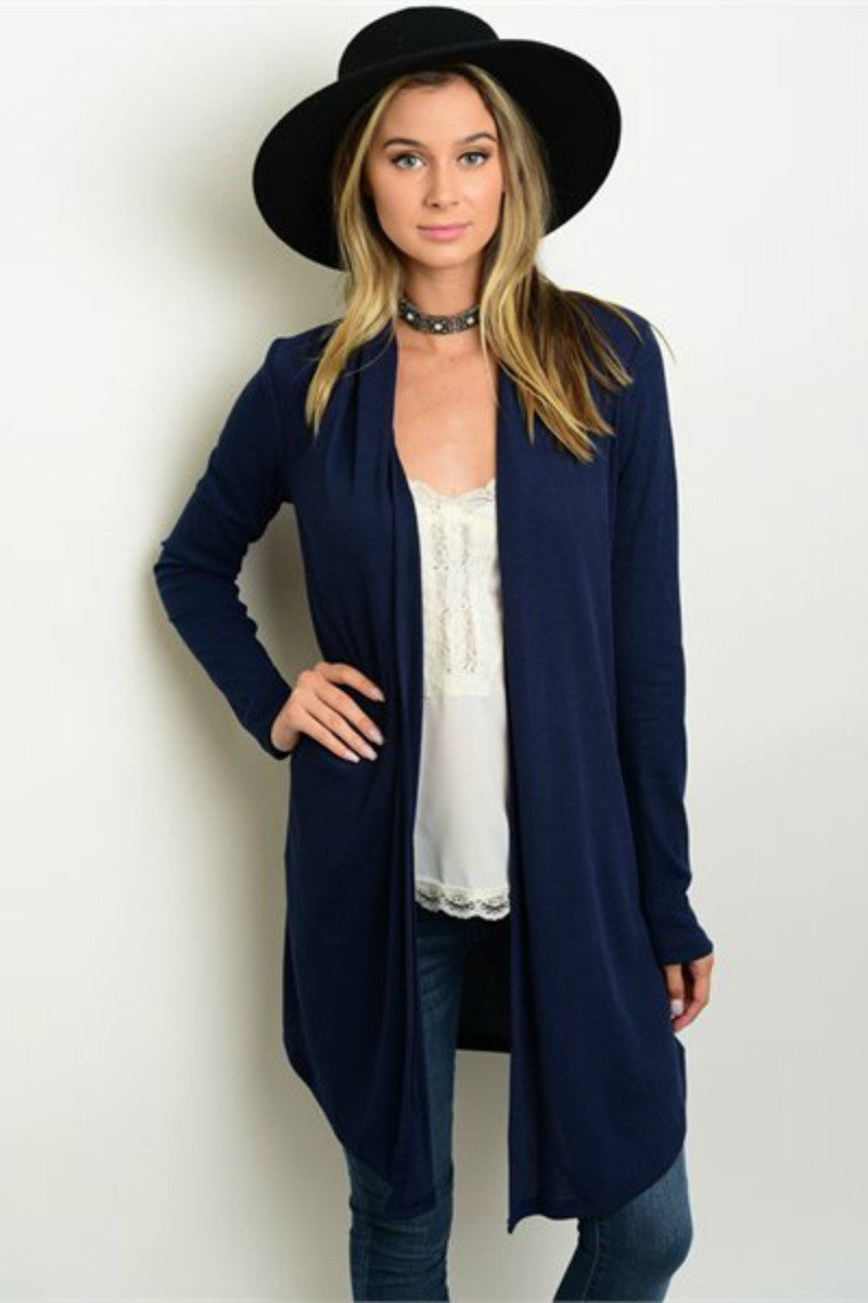 hammer ahd heart boutique navy cardigan women's fashion made in the usa