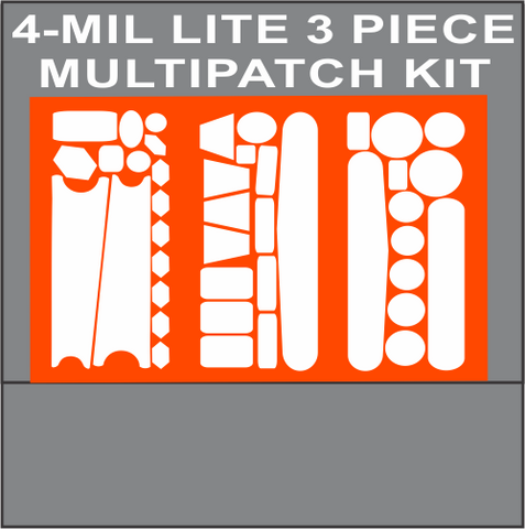 4 MIL LITE 3 PIECE MULTIPATCH KIT