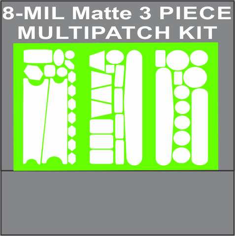 8 MIL MATTE 3 PIECE MULTIPATCH KIT