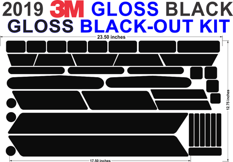 GLOSS BLACK-OUT Kit NEW 2019 GLOSS Black Kit
