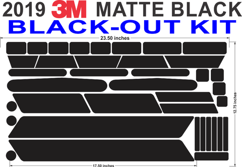 BLACK-OUT Kit NEW 2019 3M Matte Black Kit