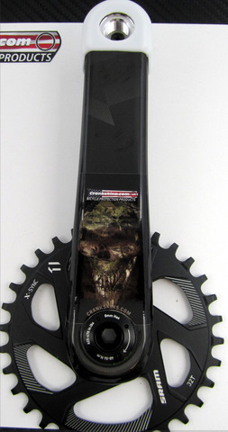 Crankskins Mini CAMO SKULL with Logo