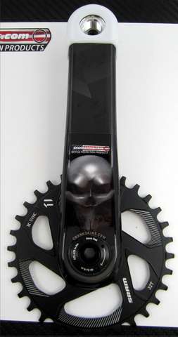 Crankskins Mini CARBO FIBRE SKULL FRONT with Logo