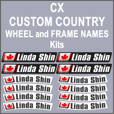 CX Wheel and Frame Names World Flag