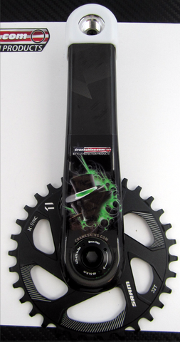 Crankskins Mini GREEN ACE OF SPADES with Logo