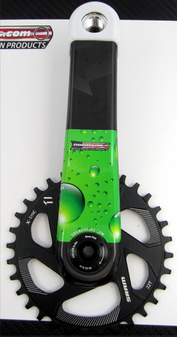 Crankskins Mini GREEN SODA with Logo