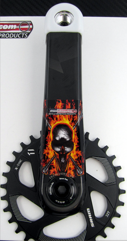 Crankskins Mini MOLTEN SKULLS with Logo