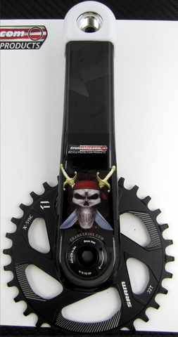 Crankskins Mini PIRATE SKULL with Logo