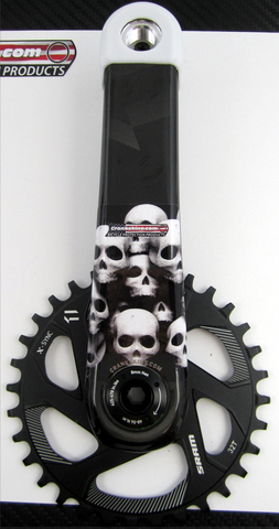 Crankskins Mini SKULL PILE with Logo