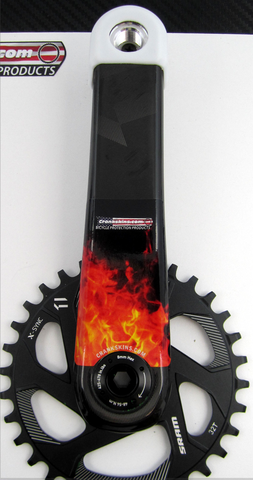 Crankskins Mini SMALLER FLAME with Logo